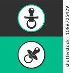 baby pacifier flat design...   Shutterstock .eps vector #1086725429