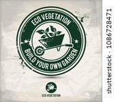 alternative eco vegetation... | Shutterstock .eps vector #1086728471