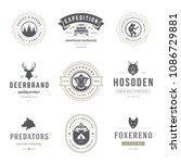 camping logos design templates... | Shutterstock .eps vector #1086729881
