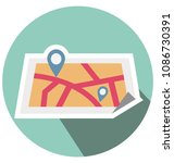 map pin flat isolated vector... | Shutterstock .eps vector #1086730391