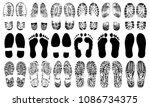 footprints human shoes... | Shutterstock .eps vector #1086734375