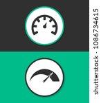 tachometer vector icon. car...   Shutterstock .eps vector #1086734615