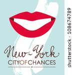 new york city conceptual poster vector illustration eps 10 - stock vector