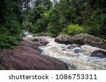 stream of the waterfall at khao ... | Shutterstock . vector #1086753311