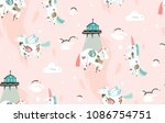 hand drawn vector abstract... | Shutterstock .eps vector #1086754751