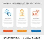 business infographic template... | Shutterstock .eps vector #1086756335