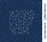 arkansas network style us state ... | Shutterstock .eps vector #1086768161