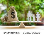 money saving for kids  family... | Shutterstock . vector #1086770639