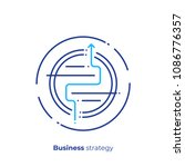 business strategy line art icon ... | Shutterstock .eps vector #1086776357