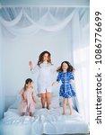 little girls trust a young...   Shutterstock . vector #1086776699
