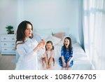 little girls trust a young...   Shutterstock . vector #1086776705