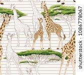 seamless pattern  background ...   Shutterstock .eps vector #1086778067