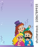 Party photo booth theme 2 - eps10 vector illustration.