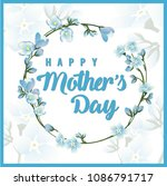 mother's day greeting card with ... | Shutterstock .eps vector #1086791717