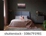 Pastel Blanket On Bed In Pink...