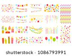party elements big set ... | Shutterstock .eps vector #1086793991