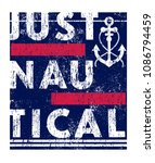 just nautical.slogan .t shirt... | Shutterstock .eps vector #1086794459