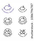 no animal testing logo | Shutterstock .eps vector #1086796787