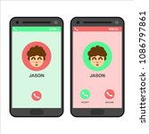 incoming call smartphone...