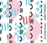 fun seamless pattern with... | Shutterstock .eps vector #1086798281