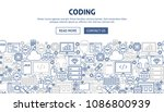 coding banner design. vector... | Shutterstock .eps vector #1086800939