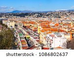 nice  france  on march 9  2018. ... | Shutterstock . vector #1086802637