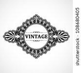 vintage frame | Shutterstock .eps vector #108680405