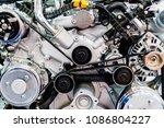 truck engine motor components... | Shutterstock . vector #1086804227