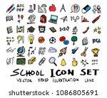 hand drawn sketch doodle vector ... | Shutterstock .eps vector #1086805691