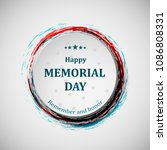 happy memorial day. memorial... | Shutterstock .eps vector #1086808331