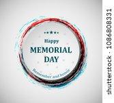 happy memorial day. memorial... | Shutterstock .eps vector #1086808331