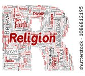 vector conceptual religion  god ...   Shutterstock .eps vector #1086812195