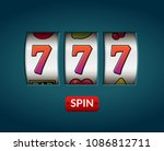 lucky seven 777 slot machine.... | Shutterstock .eps vector #1086812711