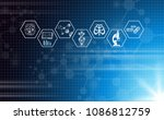 abstract background technology... | Shutterstock .eps vector #1086812759