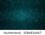 binary computer code background ...   Shutterstock .eps vector #1086816467