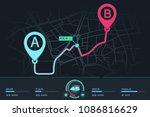 dashboard  design gps navigator.... | Shutterstock .eps vector #1086816629