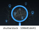 searching location on street... | Shutterstock .eps vector #1086816641