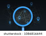 searching location on street... | Shutterstock .eps vector #1086816644