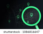 searching location on street... | Shutterstock .eps vector #1086816647