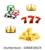 casino 3d icon for gambling...   Shutterstock .eps vector #1086818624