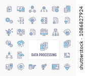 data processing  manipulation ... | Shutterstock .eps vector #1086827924
