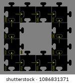frame  puzzle  order | Shutterstock .eps vector #1086831371