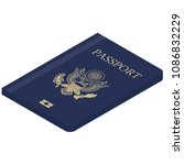 passport of united states of... | Shutterstock .eps vector #1086832229