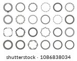 collection of different black... | Shutterstock .eps vector #1086838034