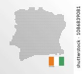 ivory coast map design with... | Shutterstock .eps vector #1086839081