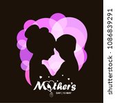mother's day typographiccard... | Shutterstock .eps vector #1086839291