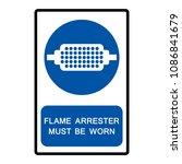 flame arrester must be worn... | Shutterstock .eps vector #1086841679