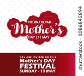 mothers day typographic design... | Shutterstock .eps vector #1086842894