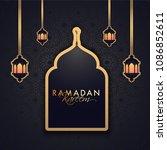 ramadan kareem festival...   Shutterstock .eps vector #1086852611