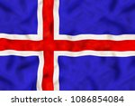 Iceland national flag with...